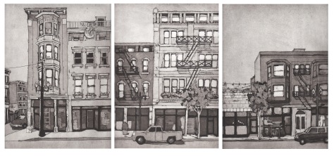 """OTR,"" aquatint by Pam Folsom"